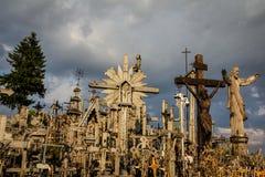 Heuvel van de Kruisen - Kruis, christendom stock foto's