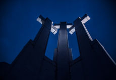 Heuvel van Drie Kruisen, Vilnius Stock Foto's