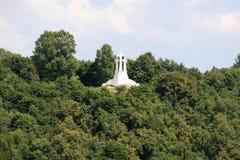 Heuvel van Drie Kruisen, Vilnius, Litouwen Stock Afbeeldingen