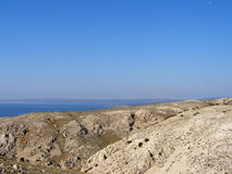 Heuvelig landschap van Krk, Kroatië Royalty-vrije Stock Fotografie
