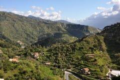 Heuvelig Sicilië Stock Afbeelding