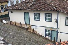 Heuvelige Straten van Ouro Preto Royalty-vrije Stock Foto's