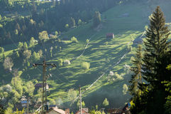 Heuvellandschap stock afbeelding
