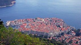 Heuvelmening van Dubrovnik in Kroatië Stock Foto