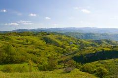 Heuvels bij de lente in Montenegro Royalty-vrije Stock Afbeeldingen