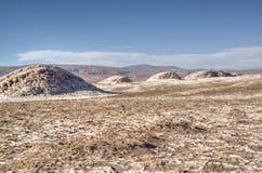 Heuvels in de Atacama-woestijn Stock Foto