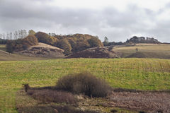 Heuvels in de Kleuren van de Herfst Stock Foto's