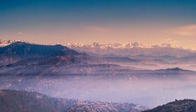 Heuvels en bergen Royalty-vrije Stock Afbeeldingen