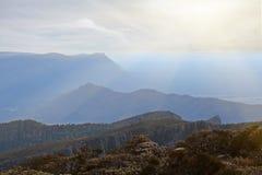 Heuvels en steile hellingen bij het Nationale Park van Grampians Royalty-vrije Stock Foto's