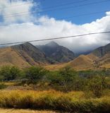 Heuvels en valleien stock afbeelding
