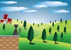 Heuvels met bomen Royalty-vrije Illustratie