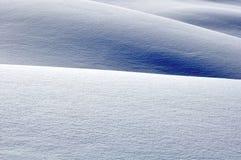 Heuvels met sneeuw Royalty-vrije Stock Foto's