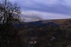 Heuvels op brand Stock Fotografie