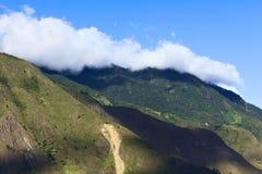 Heuvels rond Banos, Ecuador Stock Afbeeldingen