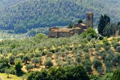 Heuvels in Toscanië dichtbij Artimino Stock Fotografie