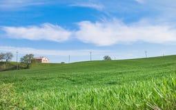 Heuvels tussen Umbrië en Toscanië stock afbeeldingen
