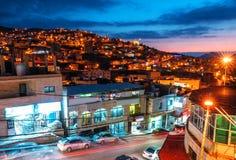 Heuvels van Jordanian stad royalty-vrije stock foto