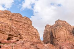 Heuvels van Petra Red Rose City, Jordanië royalty-vrije stock foto's
