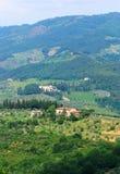 Heuvels van Toscanië royalty-vrije stock foto