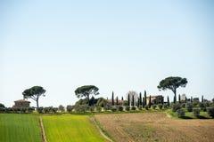 Heuvels van Toscanië, Italië stock afbeelding