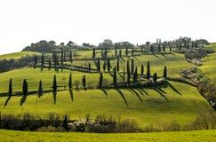 Heuvels van Toscanië, Italië stock foto