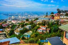 Heuvels van valparaiso Stock Foto's