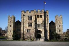 HEVER城堡和庭院,肯特,英国- 3月 库存图片