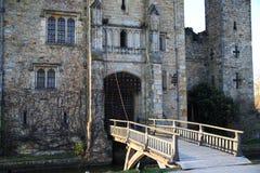 HEVER城堡和庭院,肯特,英国- 3月 免版税库存图片