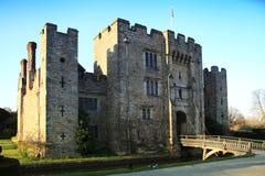 HEVER城堡和庭院,肯特,英国- 3月 免版税库存照片