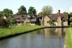 Hever castle complex and moat in England Stock Images