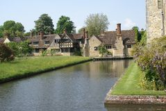 Hever castle complex and moat in England Stock Photography