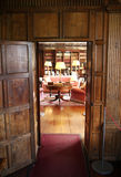HEVER CASTLE AND GARDENS, KENT,  UK. MARCH 10, 2014: 19th century Interior of Hever castle, 13th century Tudor manor Royalty Free Stock Photo