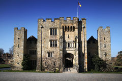 HEVER CASTLE AND GARDENS, KENT,  UK - MARCH. 10, 2014: 13th century castle with Tudor manor house and 250 acre of park Stock Images