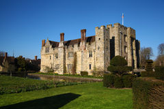 HEVER CASTLE AND GARDENS, KENT,  UK - MARCH. 10, 2014: 13th century castle with Tudor manor house and 250 acre of park Stock Photos