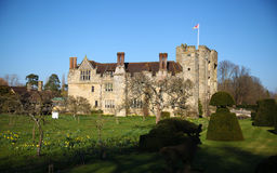 HEVER CASTLE AND GARDENS, KENT,  UK - MARCH. 10, 2014: 13th century castle with Tudor manor house and 250 acre of park Royalty Free Stock Images