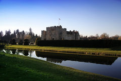 HEVER CASTLE AND GARDENS, KENT,  UK - MARCH. 10, 2014: 13th century castle with Tudor manor house and 250 acre of park Royalty Free Stock Photography