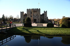 HEVER CASTLE AND GARDENS, KENT,  UK - MARCH. 10, 2014: 13th century castle with Tudor manor house and 250 acre of park Royalty Free Stock Image