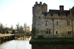 HEVER CASTLE AND GARDENS, KENT,  UK - MARCH. 10, 2014: 13th century castle with Tudor manor house and 250 acre of park Stock Image