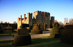 HEVER CASTLE AND GARDENS, KENT,  UK - MARCH. 10, 2014: 13th century castle with Tudor manor house and 250 acre of park Royalty Free Stock Photo