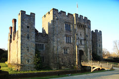 HEVER CASTLE AND GARDENS, KENT,  UK - MARCH. 10, 2014: 13th century castle with Tudor manor house and 250 acre of park Royalty Free Stock Photos