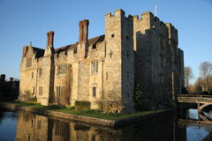 HEVER CASTLE AND GARDENS, KENT,  UK - MARCH. 10, 2014: 13th century castle with Tudor manor house and 250 acre of park Stock Photo