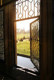 HEVER CASTLE AND GARDENS, KENT,  UK. MARCH 10, 2014: View from castle, Old garden with 250 acre of park Stock Photo