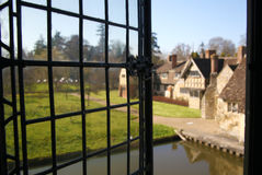 HEVER CASTLE AND GARDENS, KENT,  UK. MARCH 10, 2014: View from castle, Old garden with 250 acre of park Stock Images