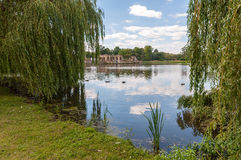 Hever Castle lake Stock Photo