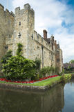 Hever castle and moat Stock Photography