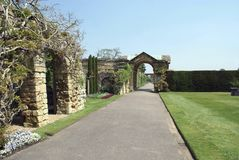 Hever garden Archway and a path Royalty Free Stock Images