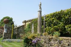 Hever kasztelu ogród w Anglia zdjęcia stock