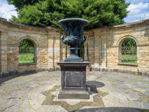 HEVER, KENT/UK - JUNE 28 : Ancient Urn on Display in the Garden Royalty Free Stock Photo