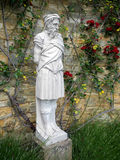 HEVER, KENT/UK - JUNE 28 : Old Statue of a Bearded Man in the Ga Royalty Free Stock Photos