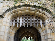 HEVER, KENT/UK - JUNE 28 : The Portcullis at Hever Castle in Hev Royalty Free Stock Photography